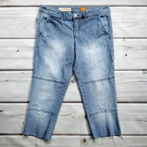 Pilcro and the Letterpress Raw Hem Cropped Jeans